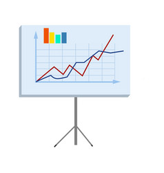 Business chart on stand isolated vector