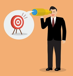 Businessman looking for business target vector