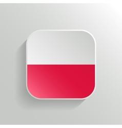 button - poland flag icon vector image