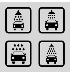 Carwash Flat Squared Icon vector