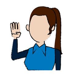 character woman politician portrait campaign vector image