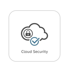 Cloud Security Icon Flat Design vector image vector image
