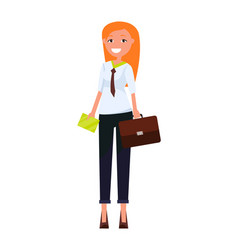 consultant elegant business woman pretty red girl vector image