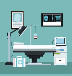 Doctor office interior vector