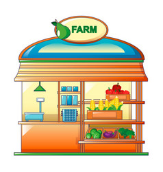 farm vegetables street shop icon cartoon style vector image