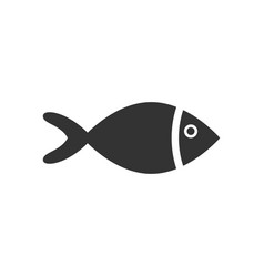 fish sign icon in flat style goldfish on white vector image