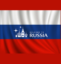 flag of russia design background vector image
