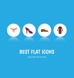 flat icon garment set of lingerie clothes heeled vector image