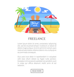 Freelance web page and text vector