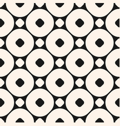 Geometric seamless pattern with circles and rings vector
