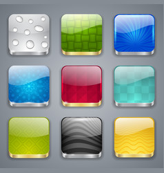 Glossy button icons vector image