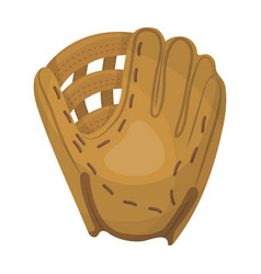 Glove trap baseball single icon in cartoon style vector
