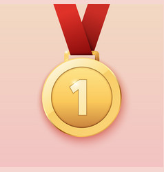 gold medal for first prize vector image