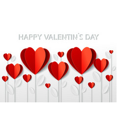 greetings card for valentines day in paper art vector image