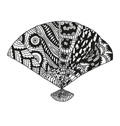 Hand drawn vintage fan vector image