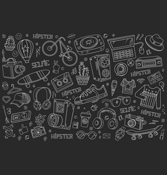 Hipster collage vector