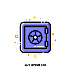 icon of safe deposit box for banking concept flat vector image