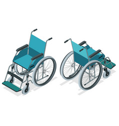 isometric wheelchair isolated chair with wheels vector image