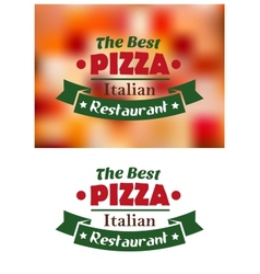 Italian pizza restaurant banner vector
