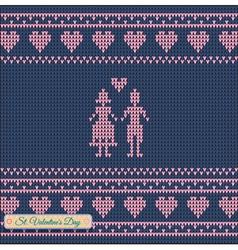 Knitting pattern sweater green t 5rt vector