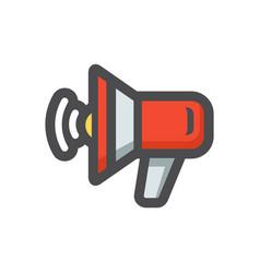 loudspeaker red megaphone icon cartoon vector image