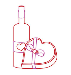 Love bottle and box design vector