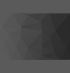 Low poly dark grey gradient background made from t vector