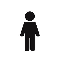 man standing up icon vector image