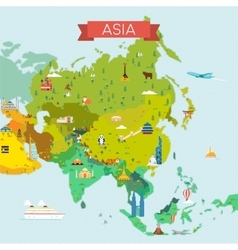 Map of Asia vector