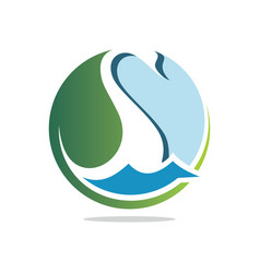 nature swan vector image