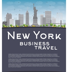 New York city skyline vector
