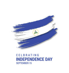 Nicaragua brush stroke flag independence day vector