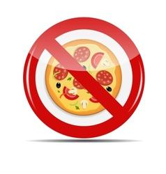 No Pizza sign vector