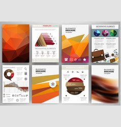 orange backgrounds abstract concept infographics vector image
