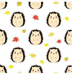 pattern with hedgehog vector image