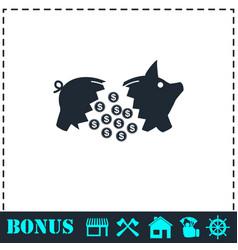 piggy icon flat vector image