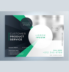 professional company business brochure template vector image