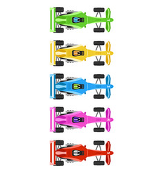 race cars vector image