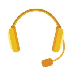 Radio headphones webinar tool vector image