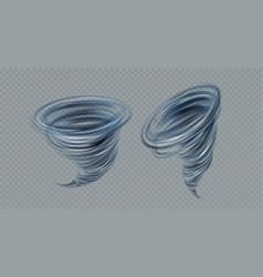 realistic tornado swirl isolated on gray vector image