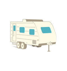 Retro recreation vehicle camper camping rv vector