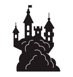 scary halloween castle icon simple style vector image