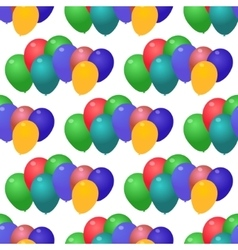 Seamless pattern of colored balls vector image