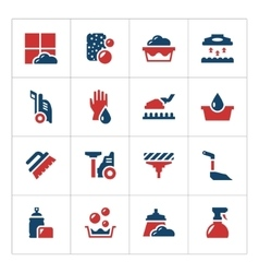 Set color icons of cleaning vector image