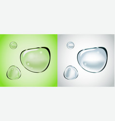 soap water bubbles set transparent isolated vector image