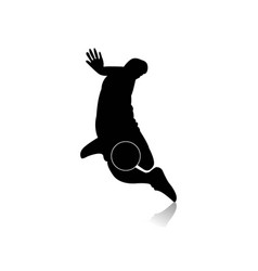 Soccer futsal player silhouettes in various vector