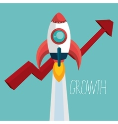 startup of growth design vector image vector image