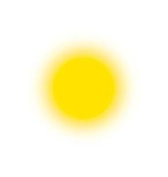 summer icon sunny bright circle shape sun shine vector image