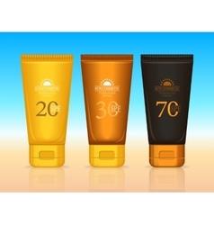 Sun Cosmetics Professional Series Suntan Creams vector image