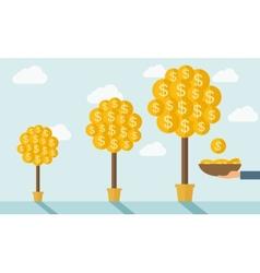 Three money trees vector image